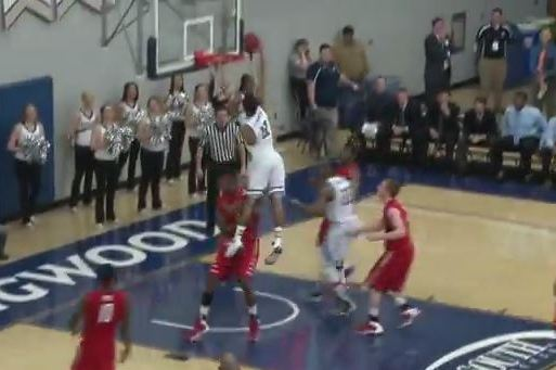 Longwood's Tristan Carey Dunks All over Radford Defender