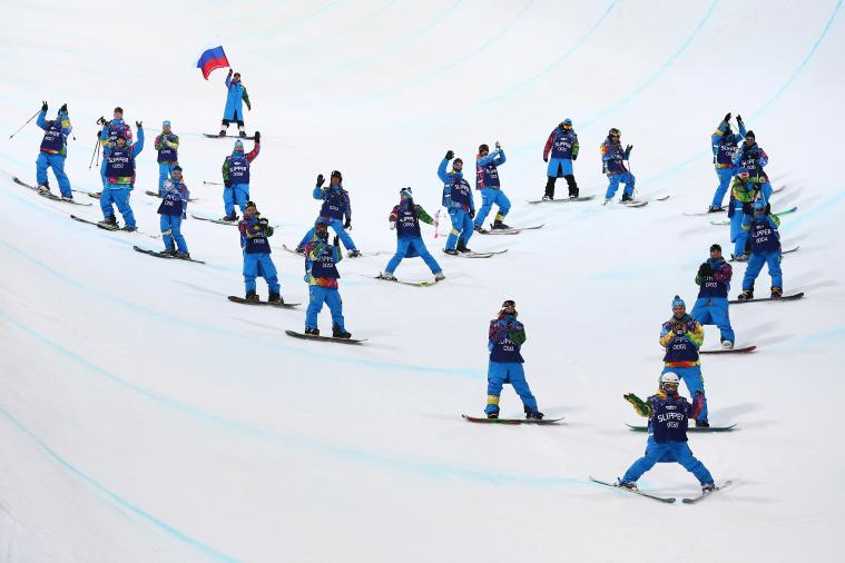 Skier Sarah Burke Honored at 2014 Sochi Olympics with Heart-Shaped Tribute
