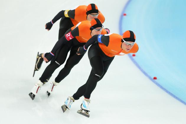 Olympic Speedskating 2014: Men and Women Team Pursuit Results from Day 14