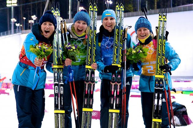 Biathlon Medal Results and Times from Olympic 2014 Women's 4x6km Relay