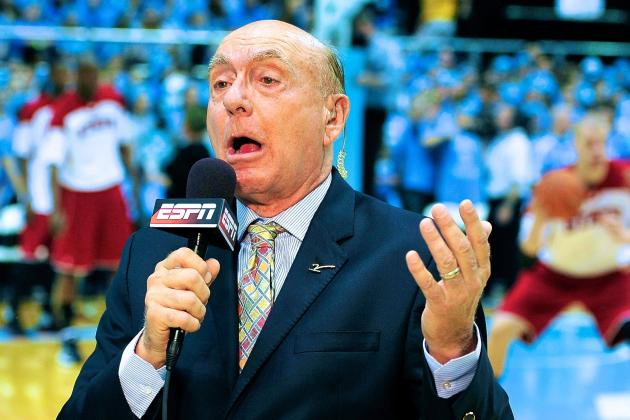 Dick Vitale Doesn't Approve of Court Rush After UNC Victory Over Duke