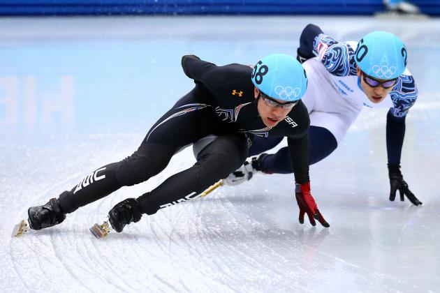 JR Celski Wins Silver Medal in Men's 5000-Meter Relay at Sochi 2014 Olympics