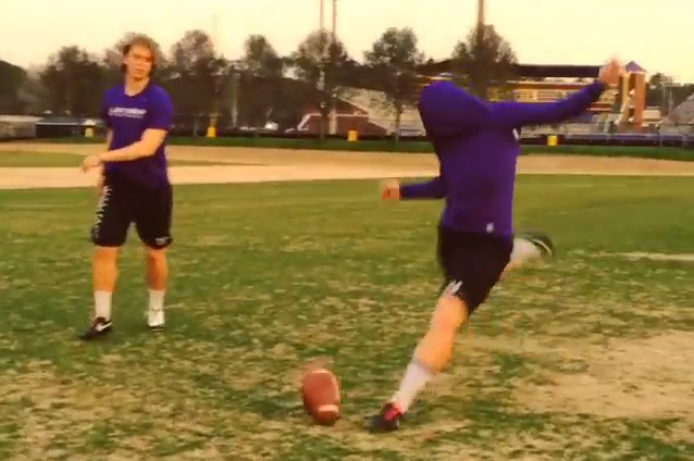 ECU Punter Davis Plowman Kicks a Spinning 50-Yard Field Goal Blindfolded