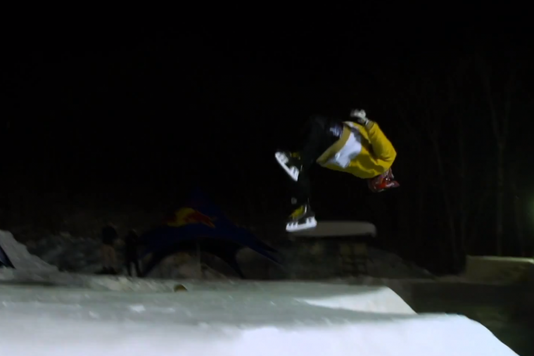 Skate Park Gets Frozen over by Red Bull, Used Like a Skate Park for Ice Skates