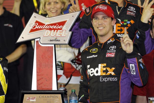 Why Denny Hamlin is the Favorite at 2014 Daytona 500 After Avoiding Duels Crash