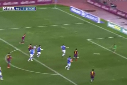GIF: Lionel Messi Scores Equaliser for Barcelona Against Real Sociedad