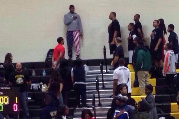 School Uses Man's Pants for National Anthem After They Don't Have a Flag at Game