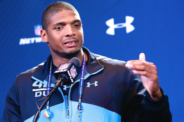 Michael Sam Speaks to Media at 2014 NFL Combine