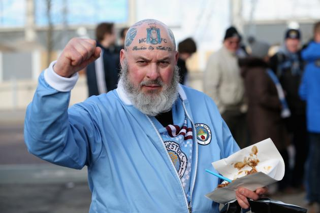 This Manchester City Fan Shows His Love for Manchester City with Head Tattoos