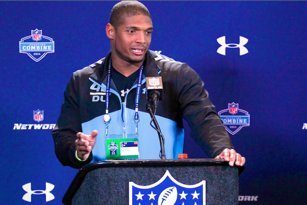 Michael Sam at Combine Shows He Can Be Perfect Trailblazer and Prime-Time Player