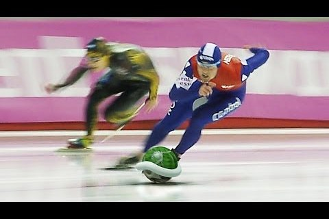 Speed Skating Mixed with 'Mario Kart' Should Be a New Olympic Sport