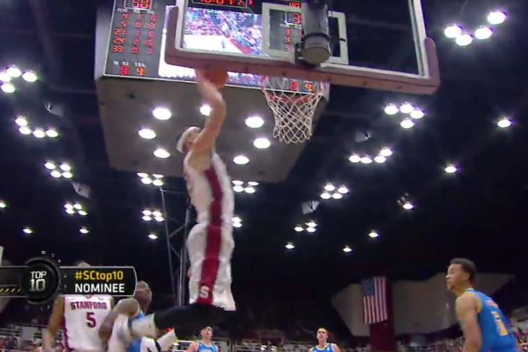 Stanford Completes 3-Player Alley-Oop vs. UCLA