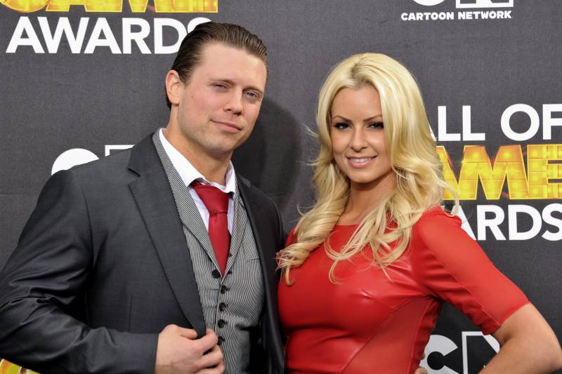 The Miz Left And Maryse Ouellet Arrive At 4th Annual Hall Of