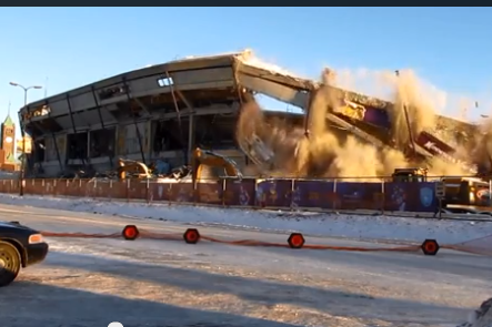 Watch as Metrodome Gets Demolished by Explosives