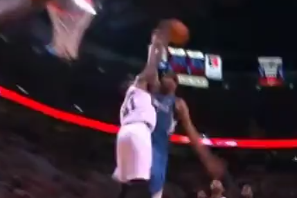 Corey Brewer Has an Easy Dunk Until Thomas Robinson Enters the Picture