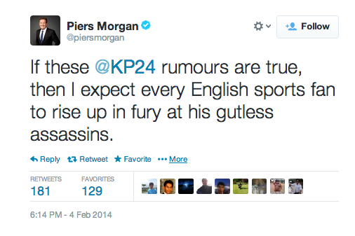 Cricket Tweets Played Part in Piers Morgan's CNN Axe, Claims New York Times