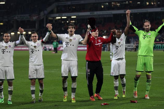 GIF: Bayern Munich's One-Touch Passing and Control Is Mesmerising