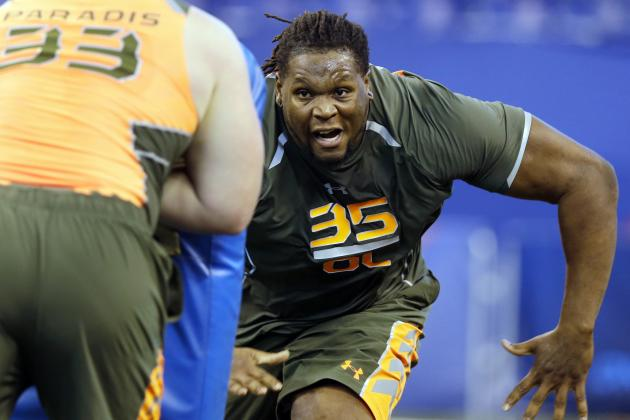 Vols O-Linemen in Action at NFL Combine