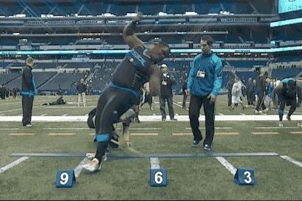 Louis Nix Has Trouble Sticking Landing During Broad Jump at NFL Combine