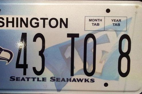 Seattle Seahawks Fans Get Creative Super Bowl XLVIII License Plate