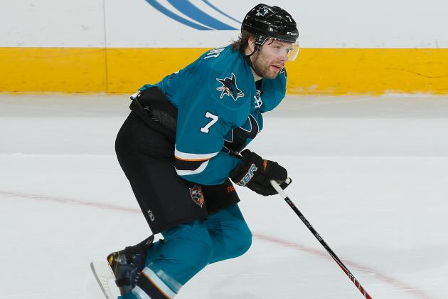 Sharks' Stuart out at Least a Week