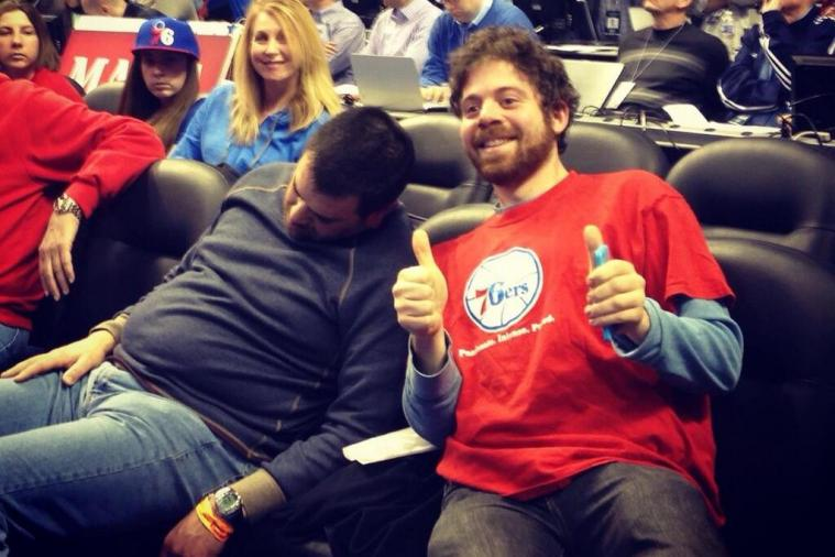 Man Falls Asleep in the Front Row of the Bucks-76ers Game