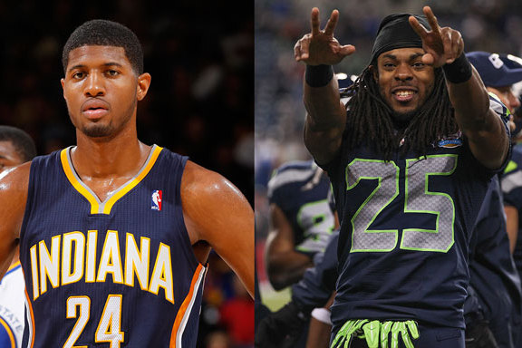 Paul George Jokingly Tells Richard Sherman They Could Learn from the Pacers' D