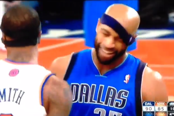 J.R. Smith Pulls Down Vince Carter's Headband