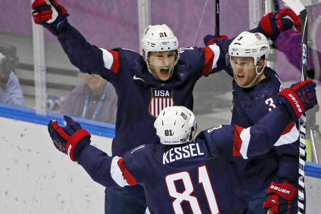 Did 2014 Olympics Prove Phil Kessel, James Van Riemsdyk Are an Elite NHL Duo?