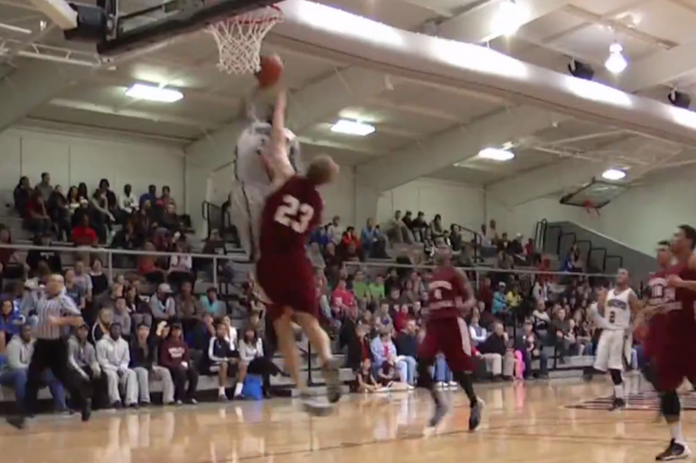 Campbellsville University's Eric Gaines Throws Down an Emphatic 1-Handed Slam
