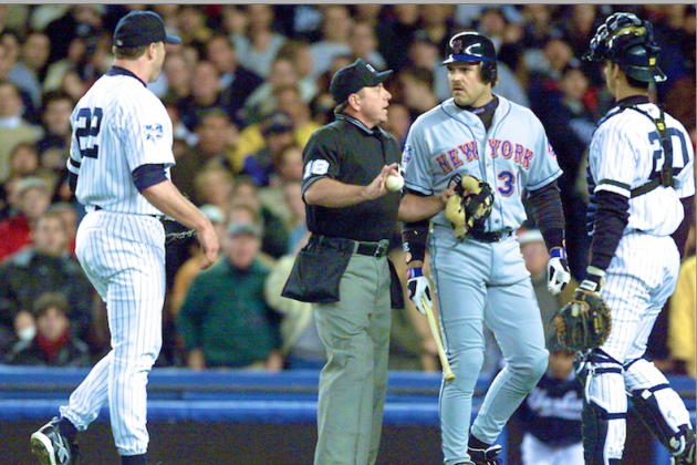 Roger Clemens-Mike Piazza Broken World Series Bat Sells at Auction for $47K