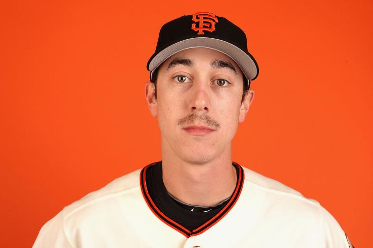 Tim Lincecum Rocks Awkward Mustache for Photo Day