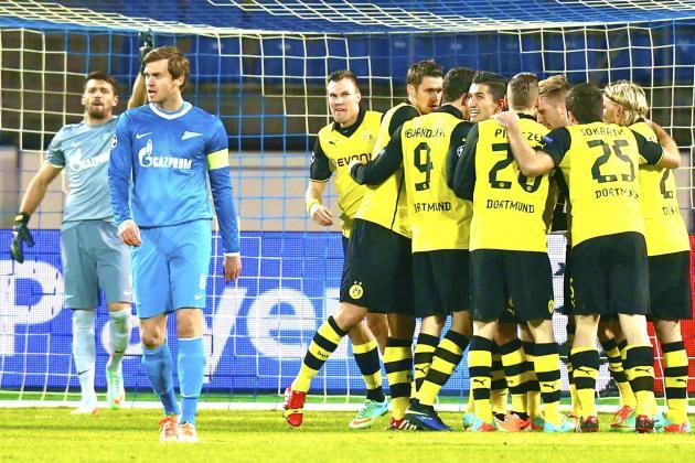 Zenit St. Petersburg vs. Borussia Dortmund: Champions League Live Score, Report