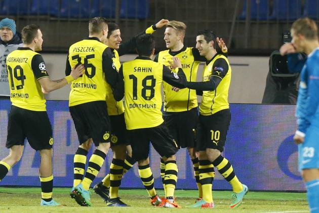Zenit St. Petersburg vs. Borussia Dortmund Score, Grades and Post-Match Reaction