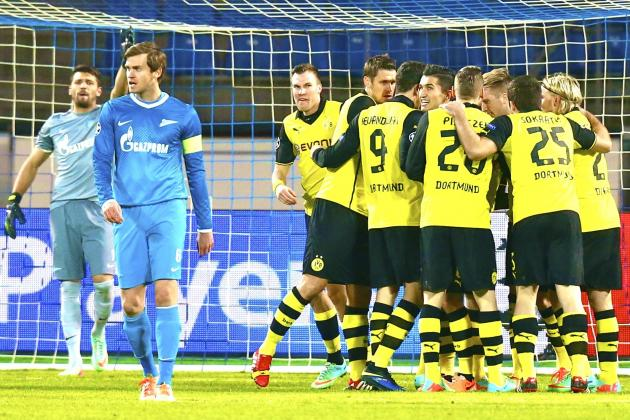 Zenit St. Petersburg vs. Borussia Dortmund Score, Grades and Post-Match Reaction