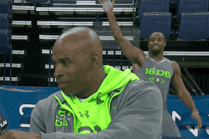 Ahmad Dixon Photobombs Deion Sanders Interview at NFL Combine