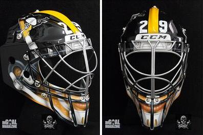 Marc-Andre Fleury Rocks Sweet Pittsburgh Steelers Goalie Mask