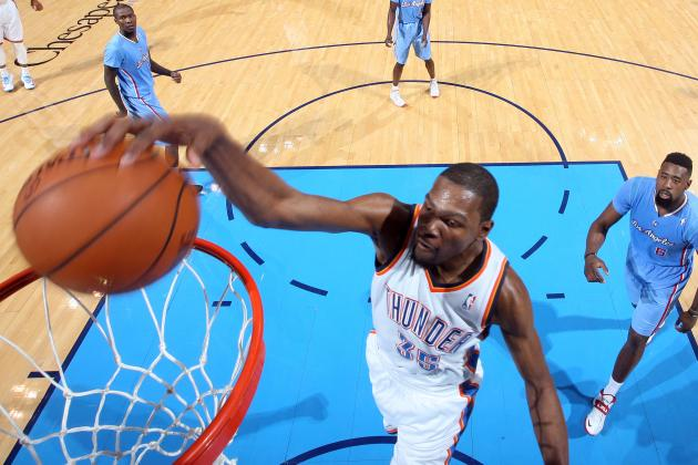 Oklahoma City's Kevin Durant Scores 25 Points or More in 22 Consecutive Games