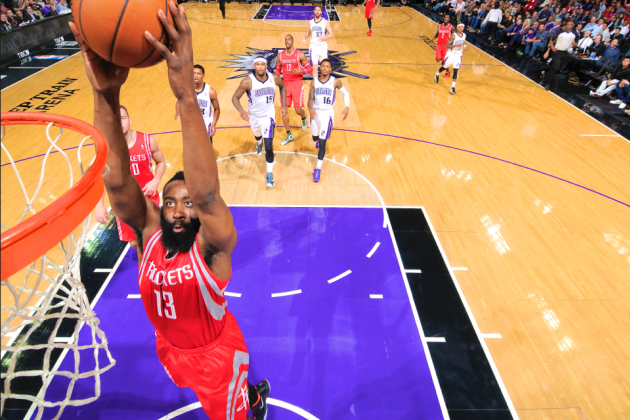 James Harden Drops 43 Points in 3 Quarters as Rockets Win Big over Kings