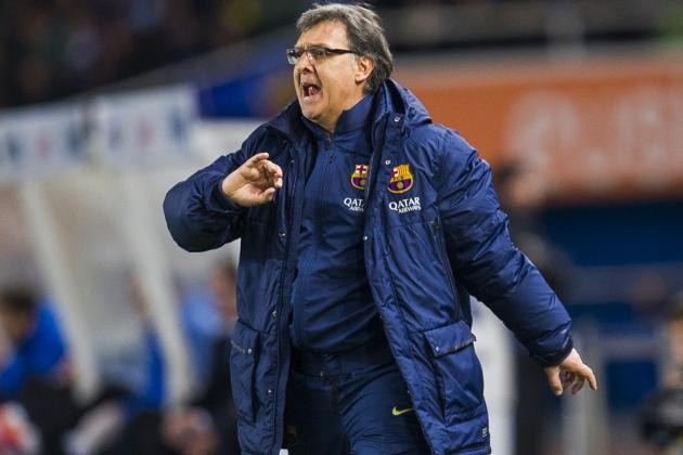 Barcelona Boss Gerardo Martino Suspended After Real Sociedad Outburst