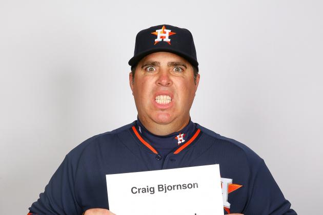 Astros Bullpen Coach Craig Bjornson Takes Scariest Picture of MLB Photo Day