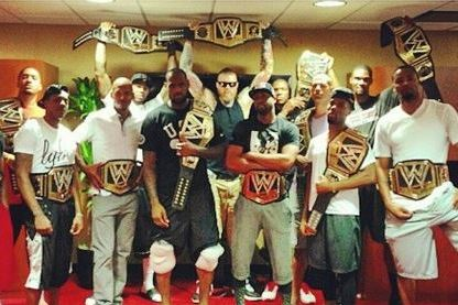 LeBron James Surprises Heat Teammates with WWE Championship Belts