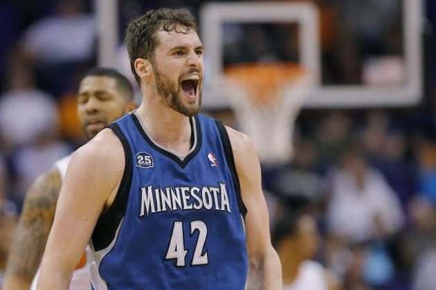 Kevin Love Sets Timberwolves Franchise Record for Consecutive 30-Point Games