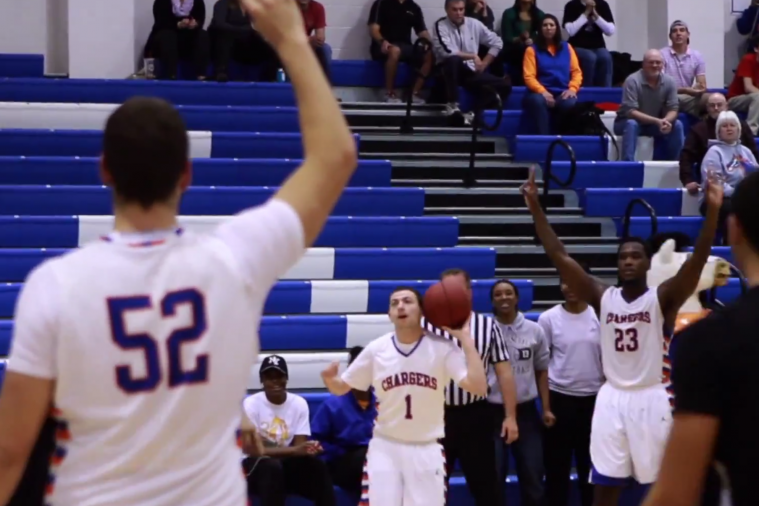 Team Manager with Cerebral Palsy Suits Up for Georgia Highlands College, Hits 3s