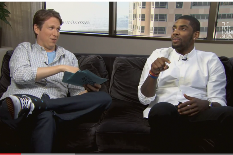 Kyrie Irving Shows off His Singing Skills on 'The Pete Holmes Show'