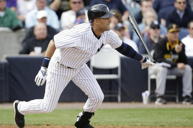 Derek Jeter Returns to Lineup in Spring Training Game vs. Pirates
