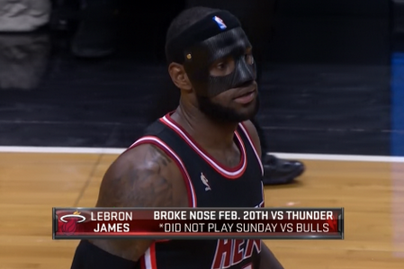 LeBron Unveils Black Mask vs. Knicks