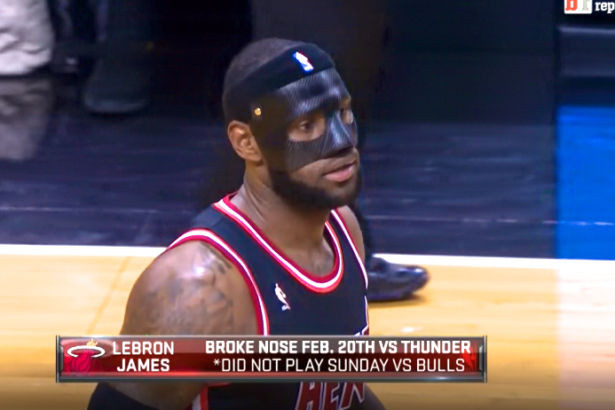 Twitter Reacts to LeBron James Wearing Black Protective Mask for Game vs. Knicks