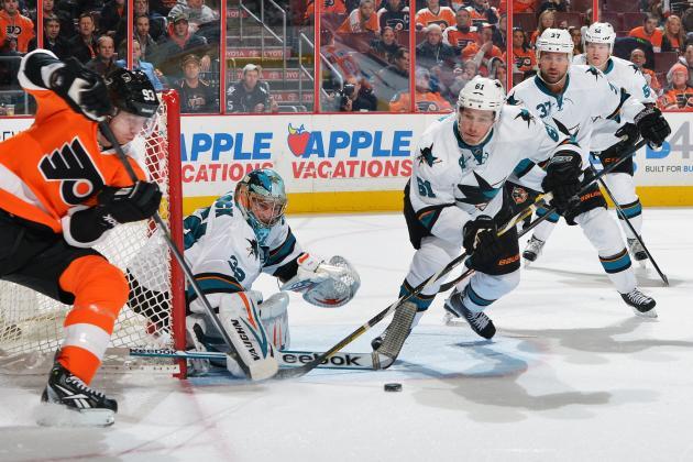 Pavelski's Hat Trick Lifts Sharks Past Flyers 7-3