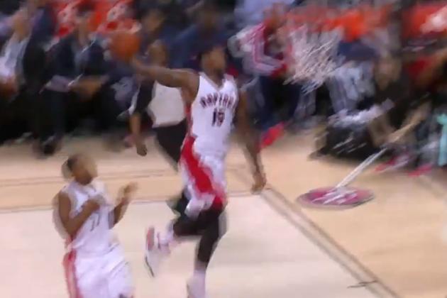 Amir Johnson Throws Down Windmill Dunk vs. Washington Wizards